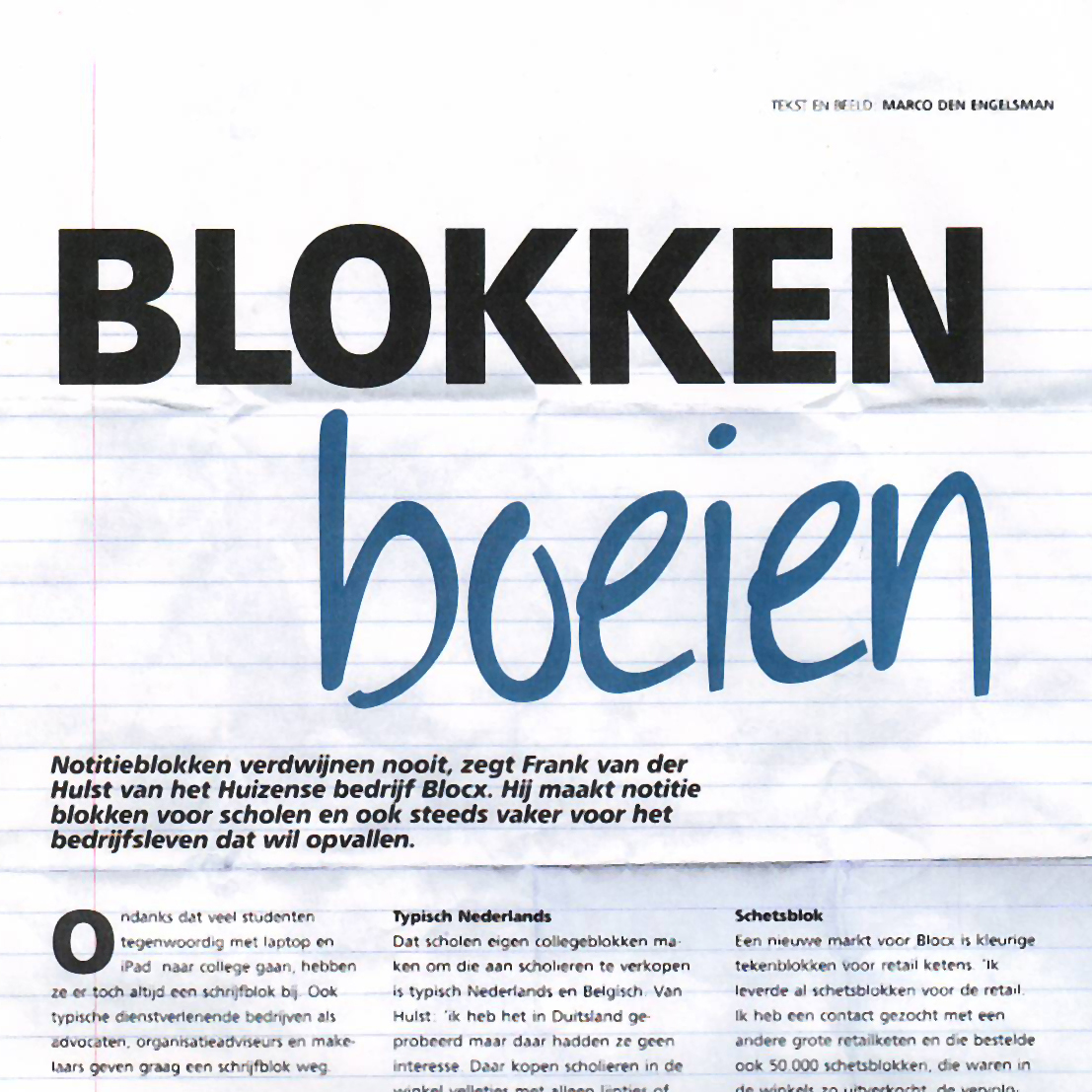 Blocx in Print Power – Blokken boeien