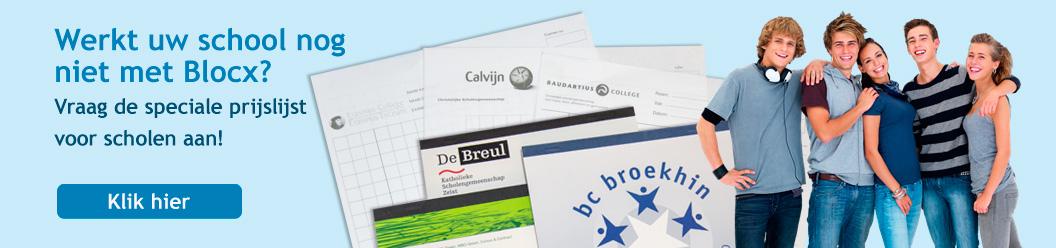 Speciaaldrukkerij voor o.a. schrijfblokken, memoblokjes, proefwerkpapier en examenpapier