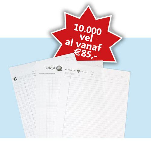 Scholendrukwerk-Proefwerkpapier